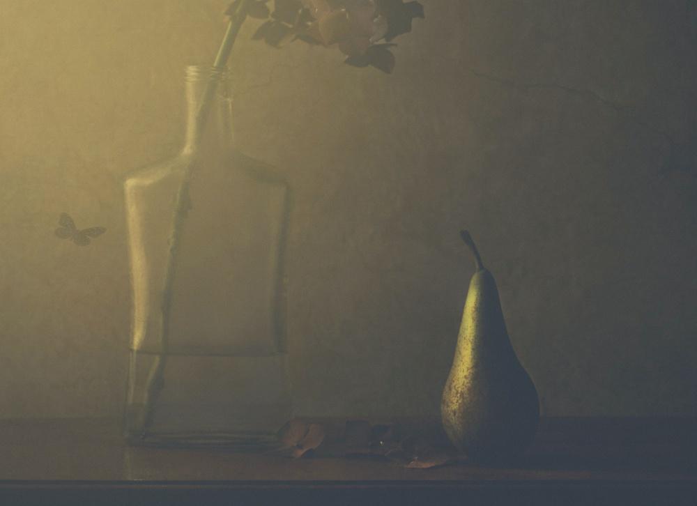 Fotokonst Hydrangea and pear (2)