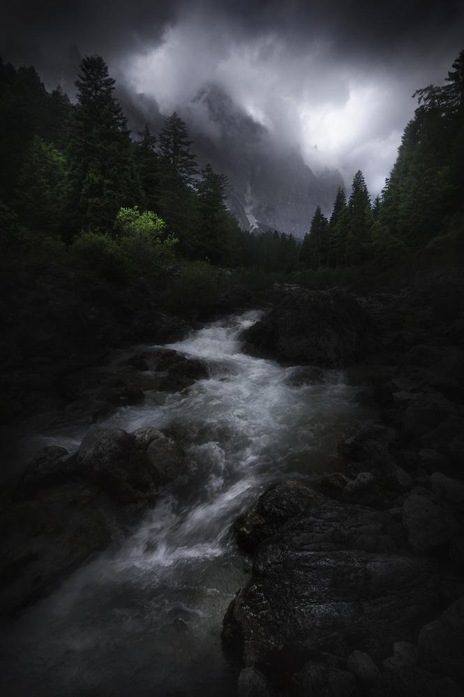 Fotokonst Drama in Dolomites