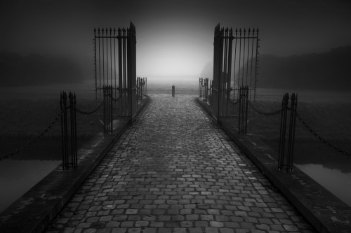 Open gate by Marc Apers