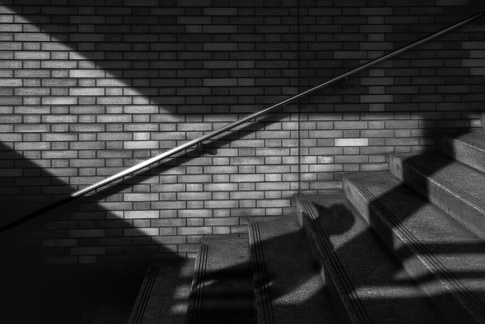 Fotokonst Birdman on step