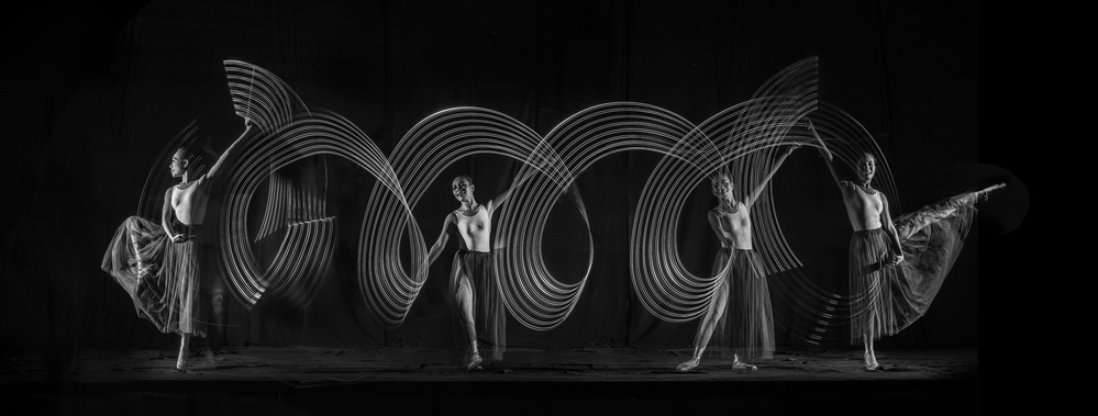 Fotokonst Four Steps Dance