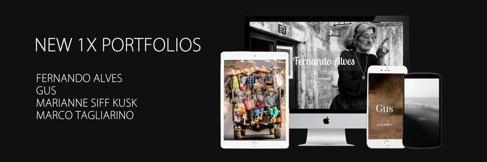 New 1x Portfolios: Fernando Alves, Gus, Marianne Siff, Marco Tagliarino
