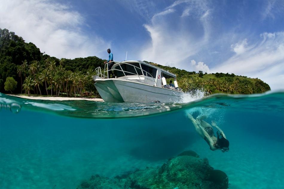 Fotokonst Dive to Fiji