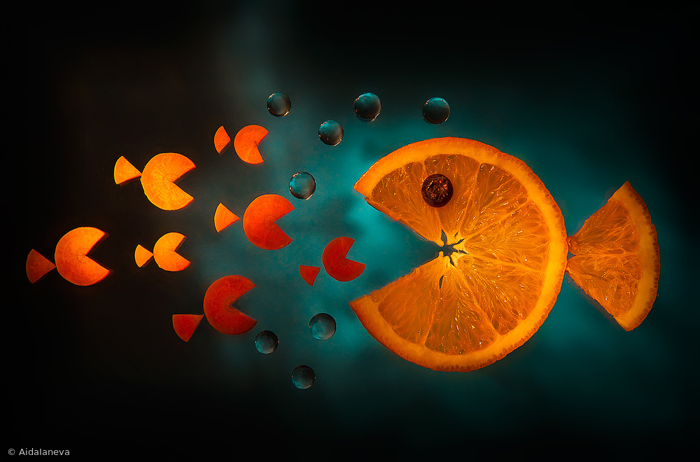 Fotokonst Orange fish