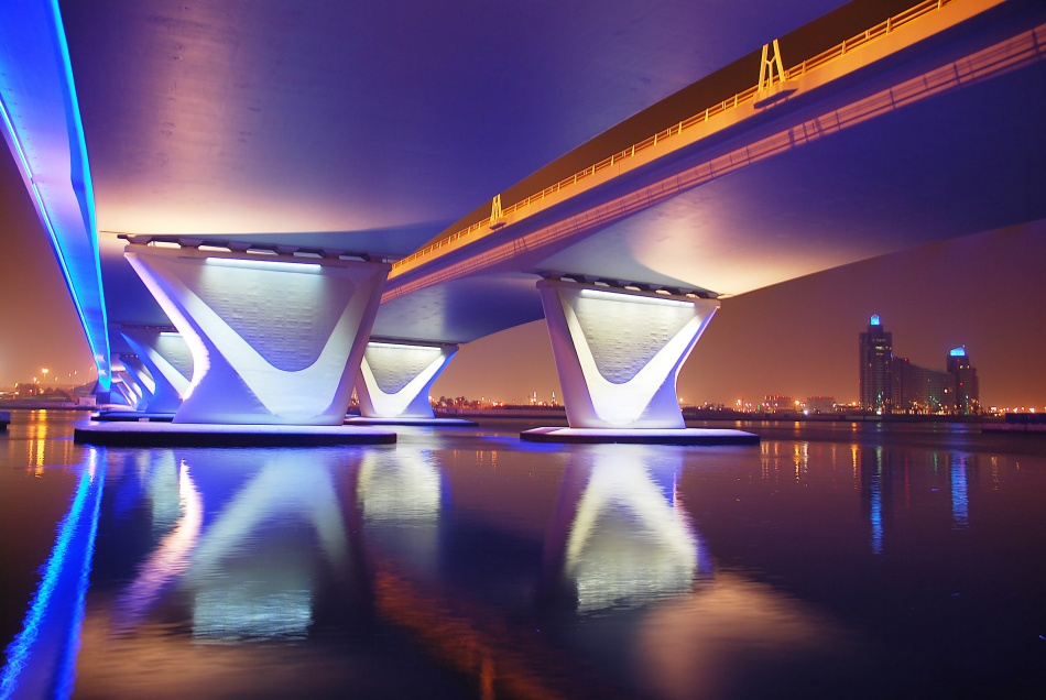 Poster Al Garhoud Bridge, Night