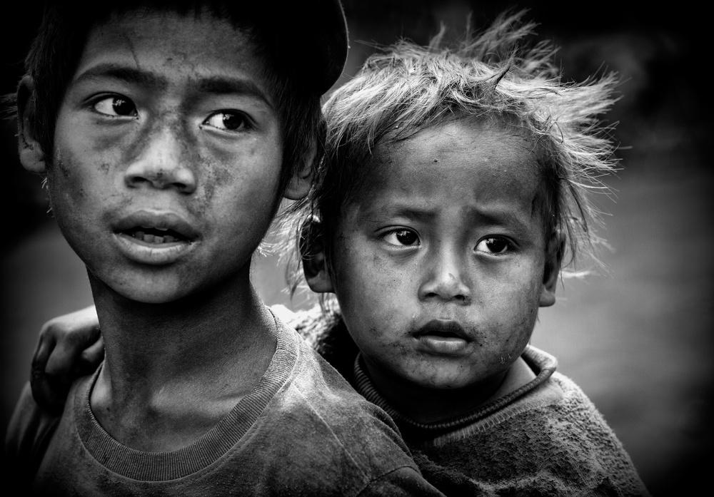 Poster Ann tribe children (Myanmar)
