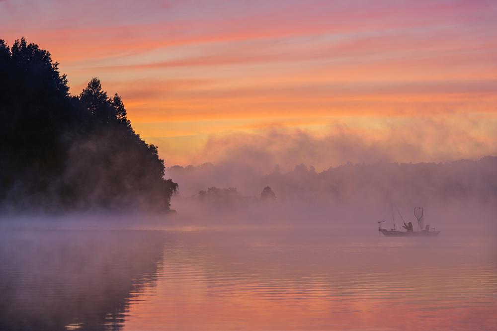 Fotokonst Morning Fishing