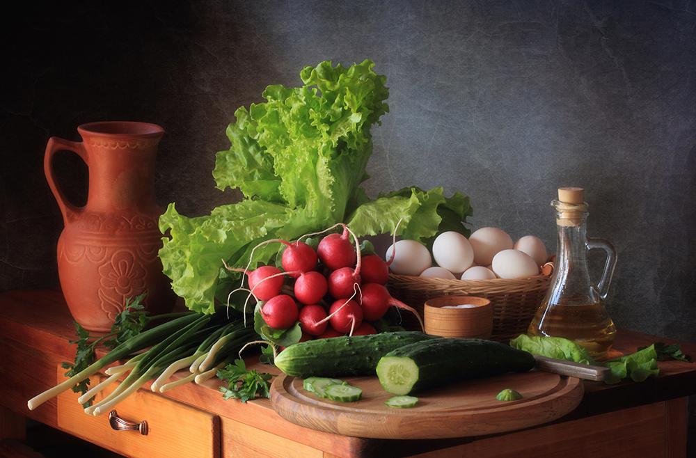 Fotokonst Still life with vegetables