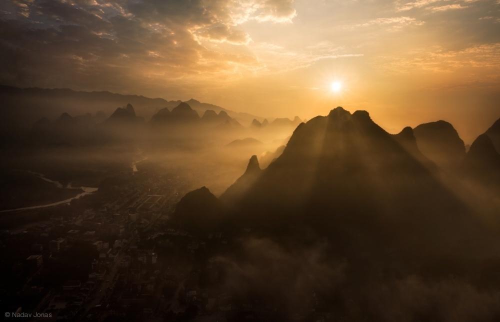 Fotokonst Misty Sunrise