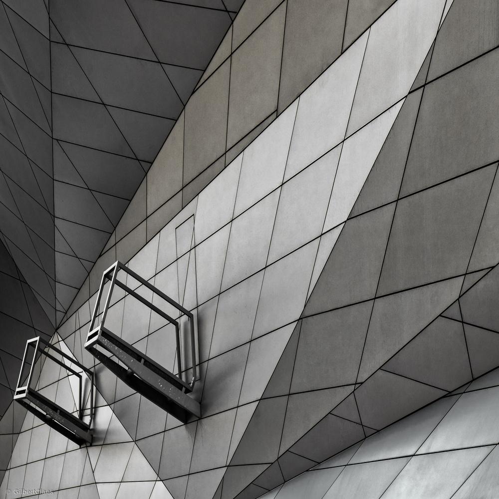 Fotokonst claustrophobia exit