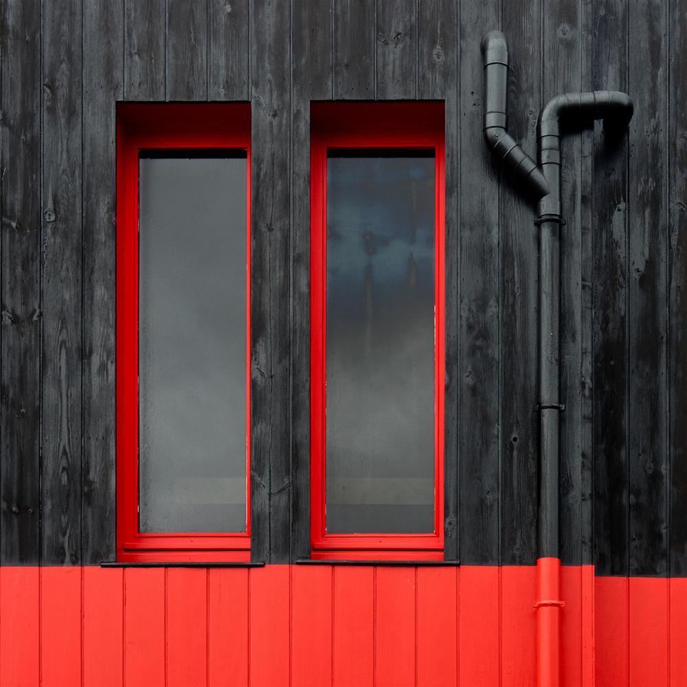 Fotokonst Red Windows