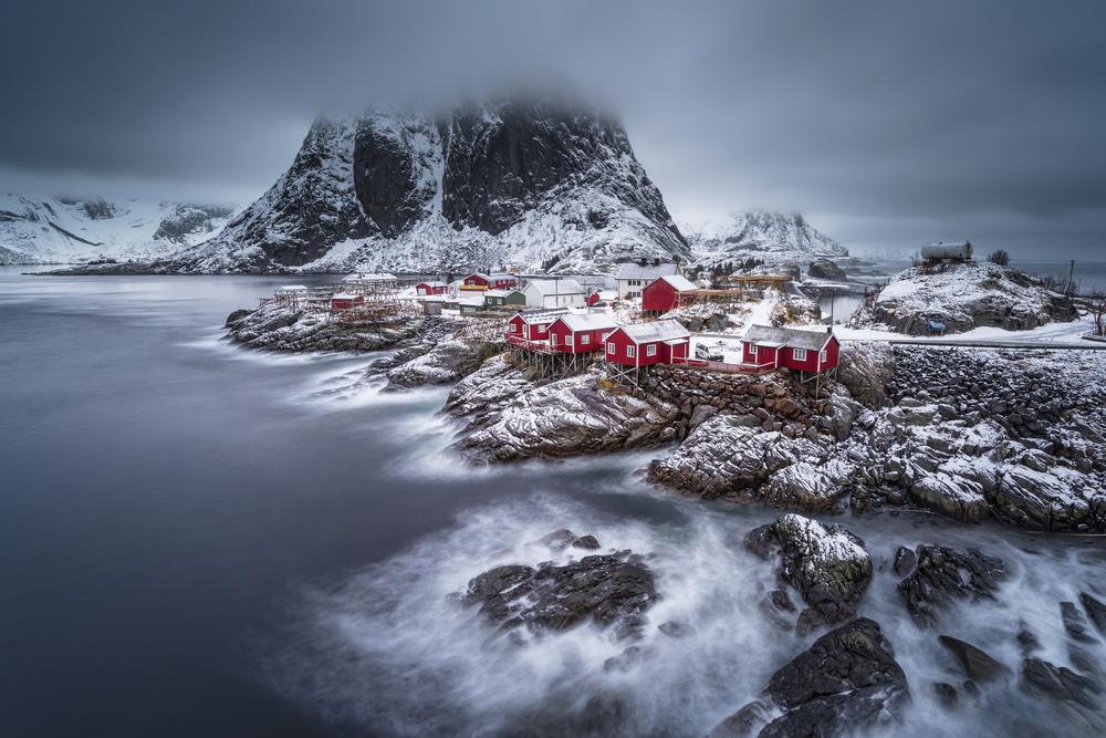 Poster winter Lofoten islands