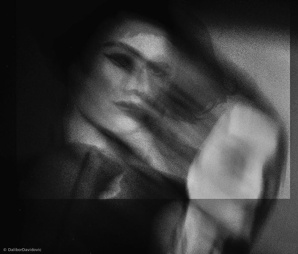 Fotokonst shadows ( portrait )
