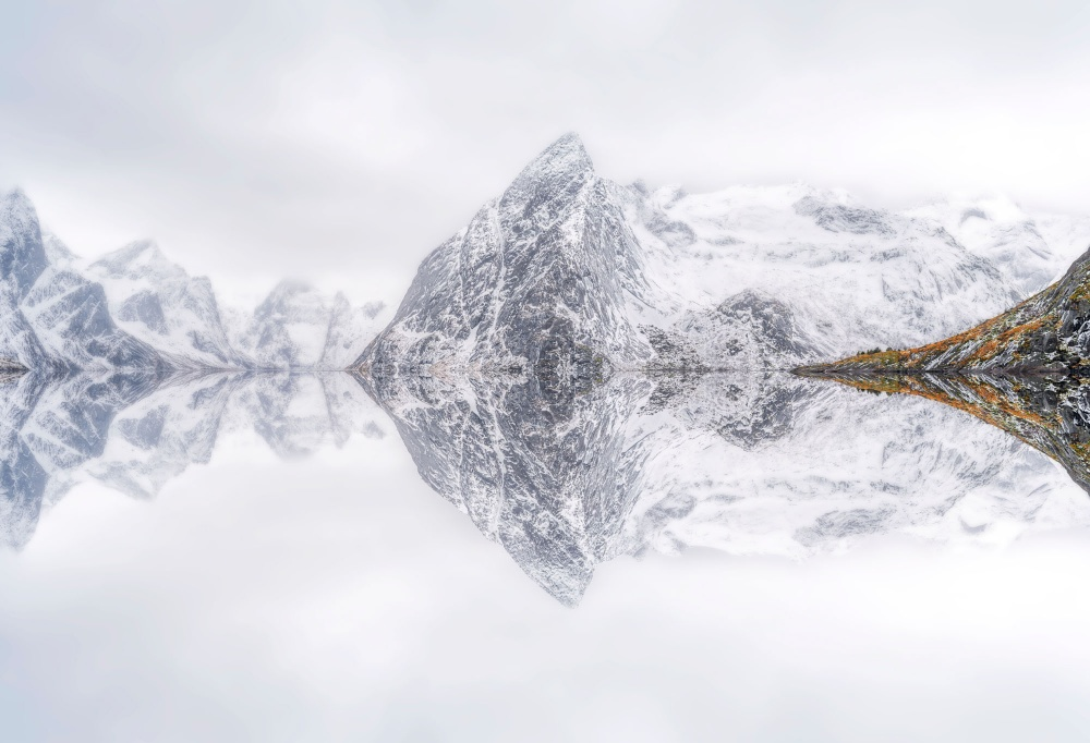 Fotokonst Lofoten Reflection