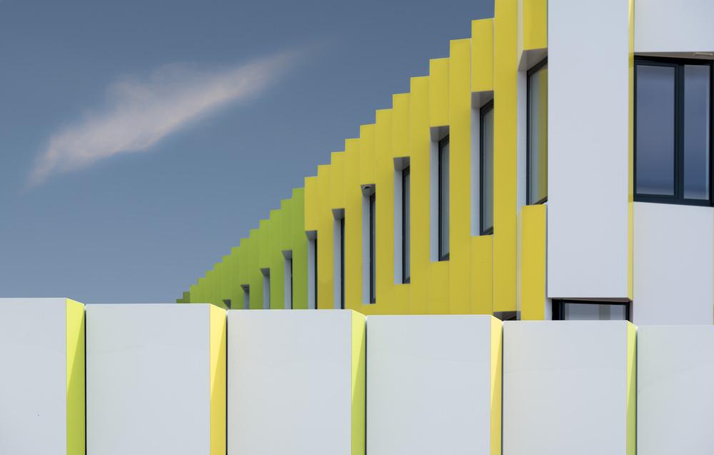 Fotokonst Zigzag facade