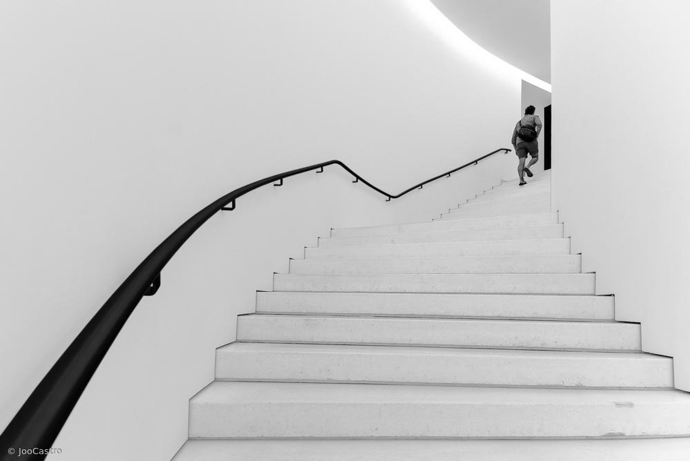 Fotokonst black handrail