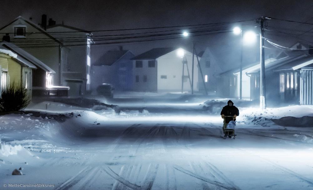Fotokonst winter street