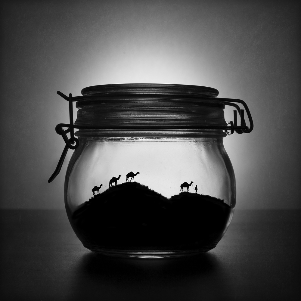 Fotokonst A jar of sugar sand