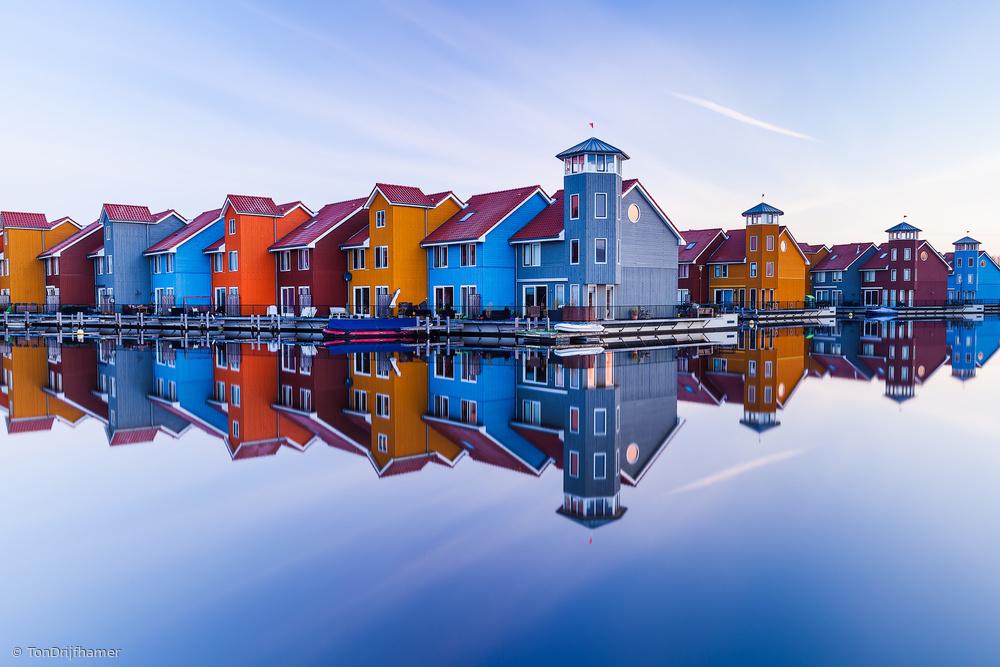 Fotokonst Colored homes