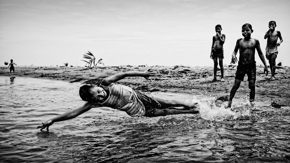 Children in the water