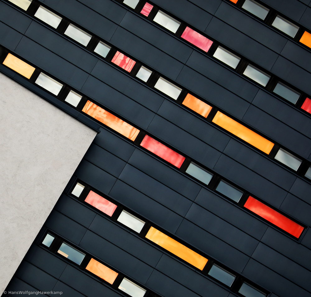 Fotokonst Wall of Windows