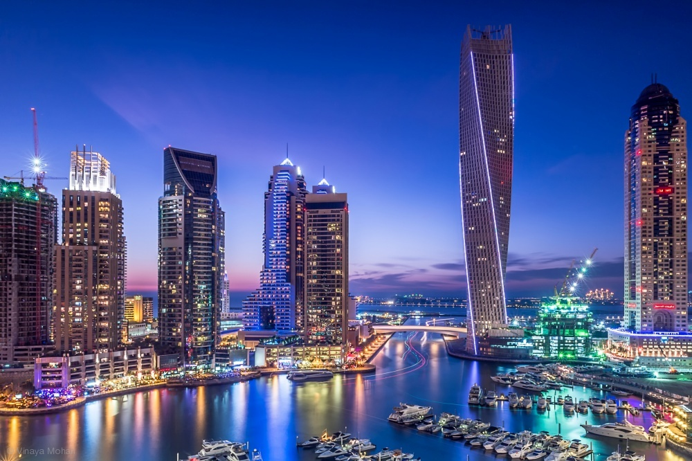 Fotokonst Dubai Marina