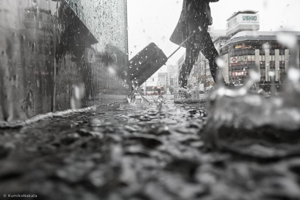 Fotokonst Departure on a rainy day