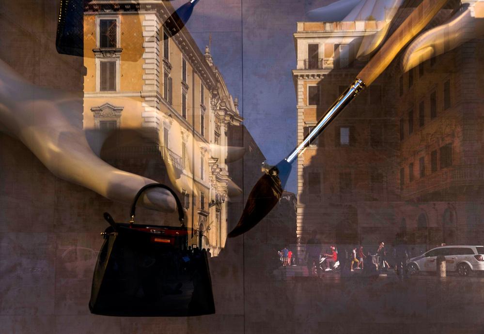 Fotokonst Un dipinto di strada...