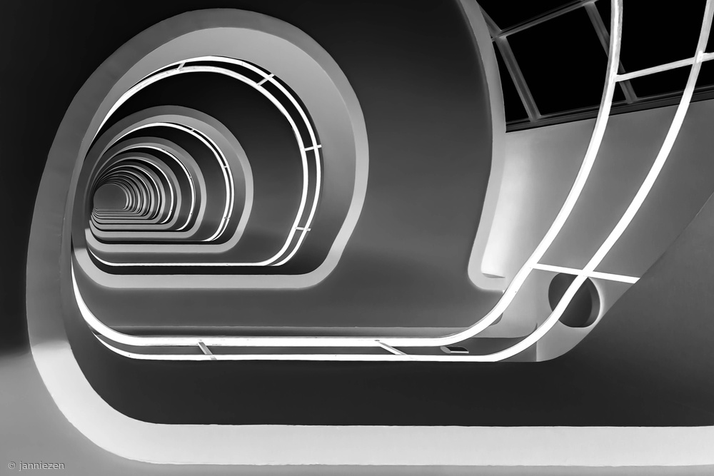 Poster Stairs  B/W
