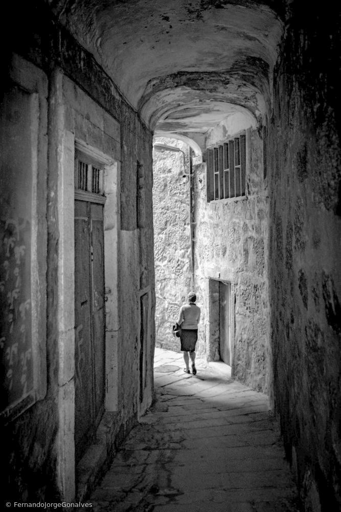 Fotokonst Alleyways of Porto