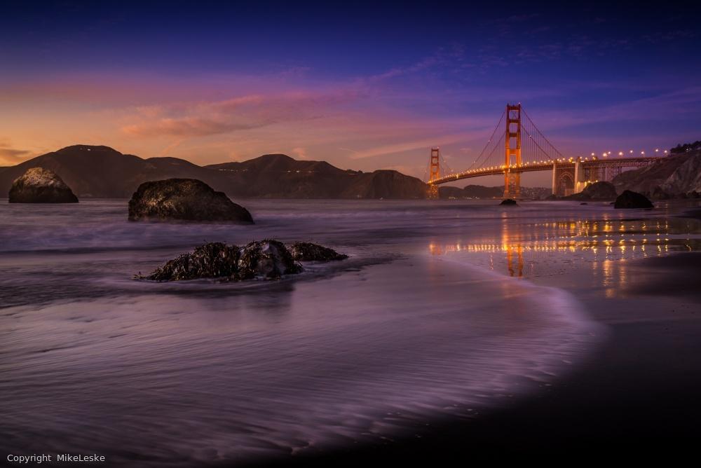 Fotokonst Golden Gate Bridge Fading Daylight