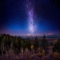 Milky Way Twilight Afterglow over The Grand Tetons by Matt Anderson