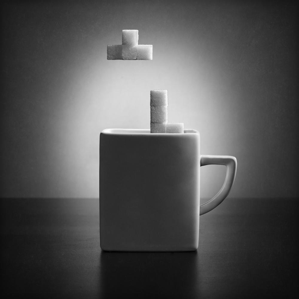 Fotokonst Tea tetris (version 2)