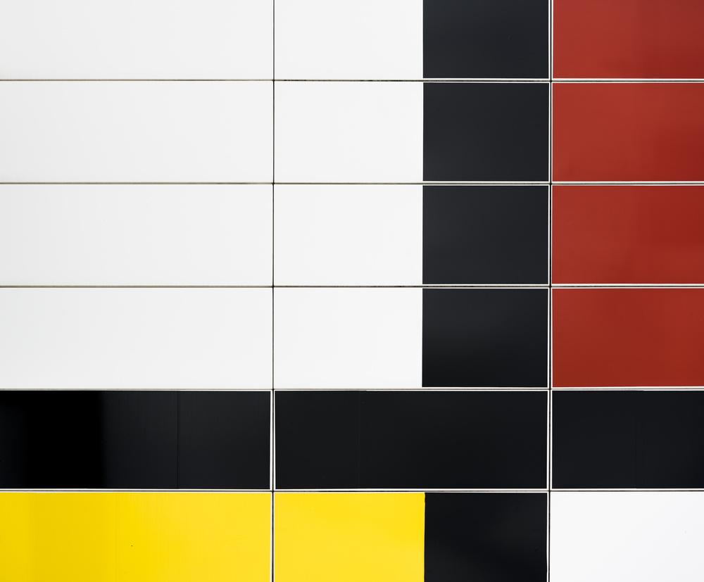Fotokonst Mondriaan facade