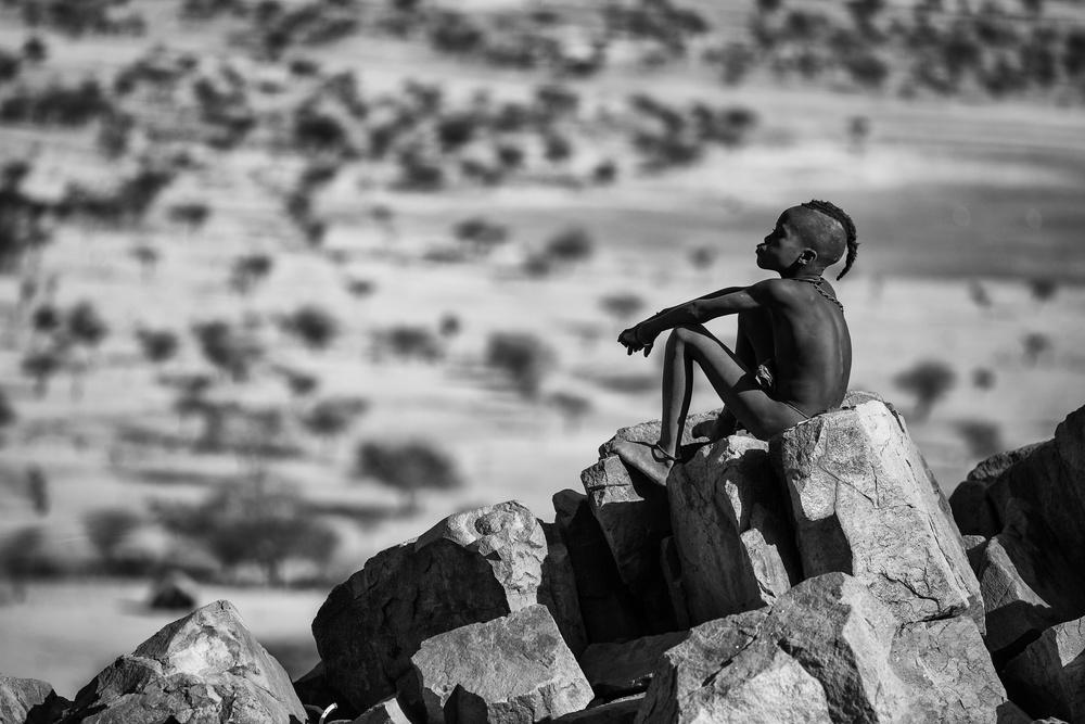 Fotokonst Guardian of the Kaokoland