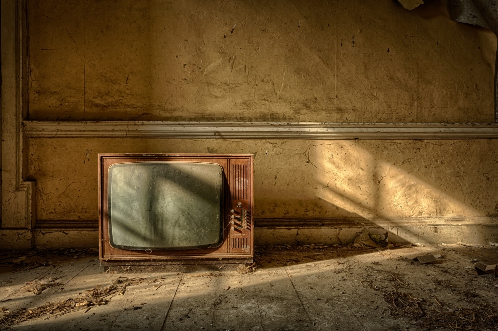 Fotokonst The Old TV