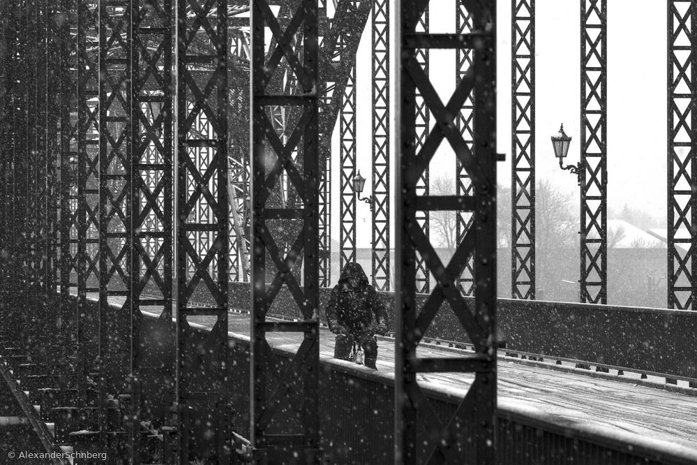 Fotokonst old harburg bridge