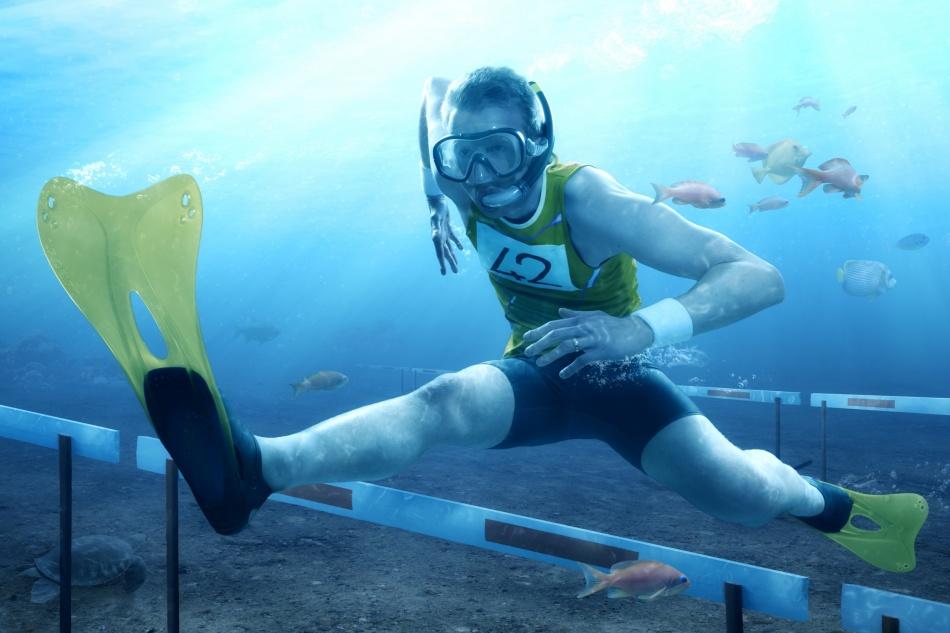 Poster Underwater Hurdling