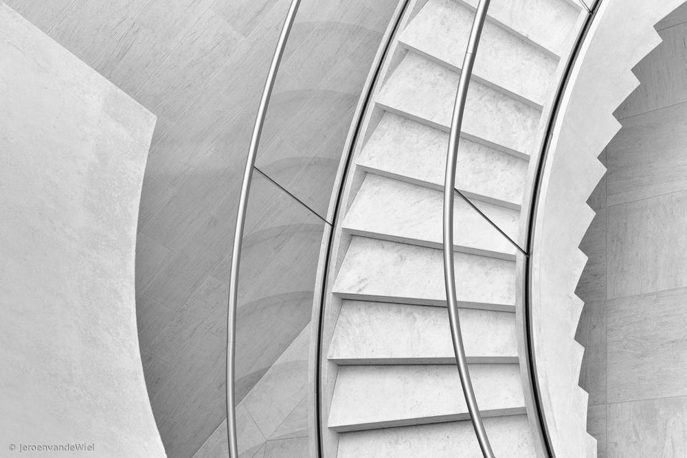 Fotokonst Stairs in curves