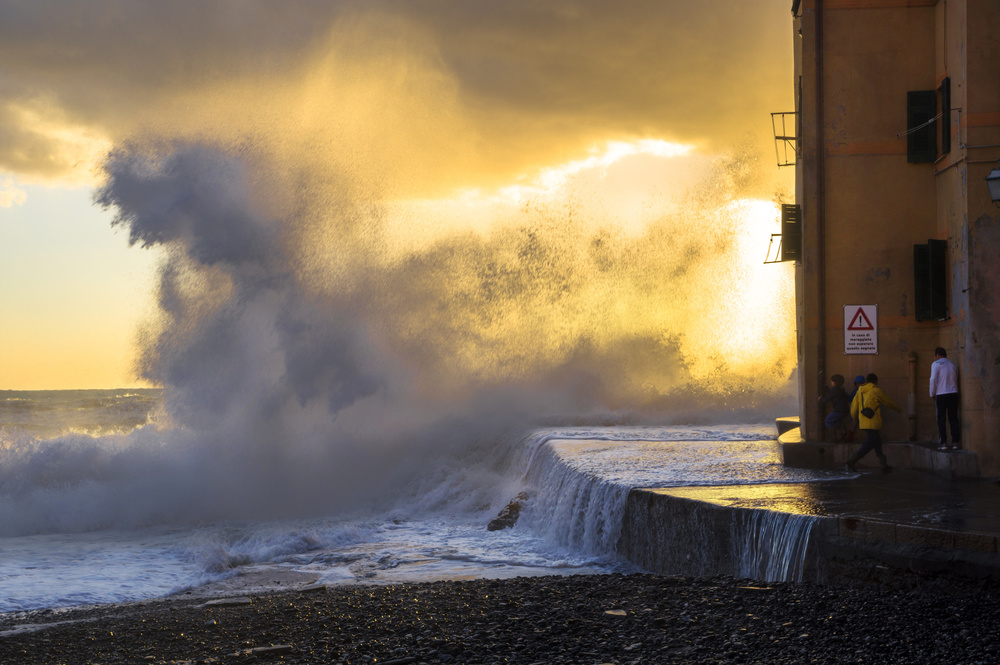 Fotokonst Sea Storm in Genoa