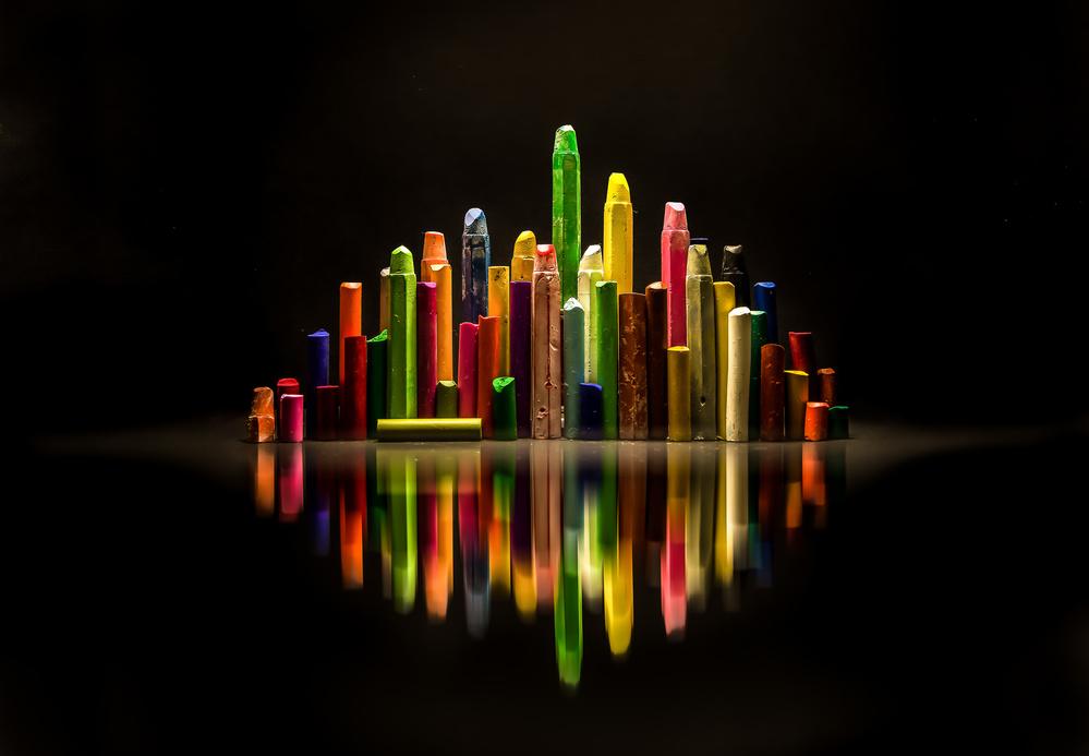 Fotokonst The city of colors