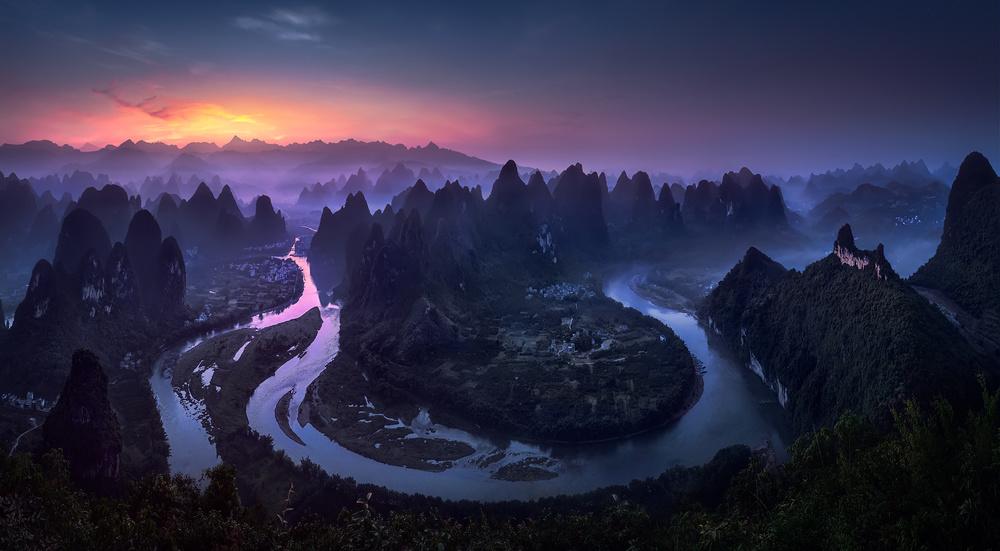 Fotokonst Good Morning from Damianshan - China