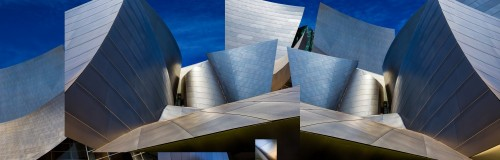 Disney Concert Hall-Montage (Color Version) by Ron Jones