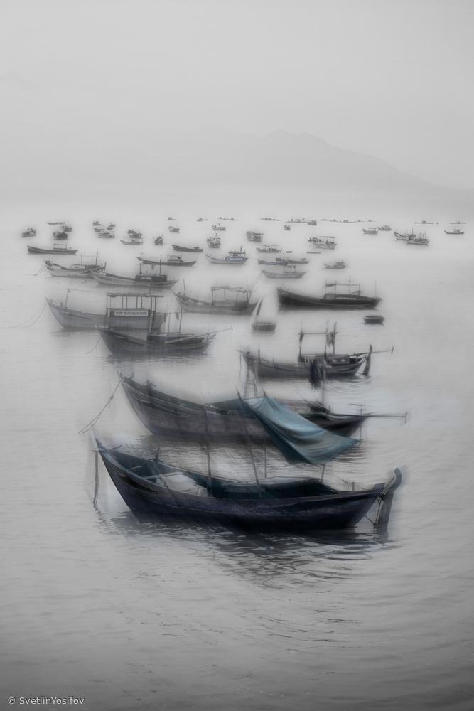 Fotokonst Vietnamese boats