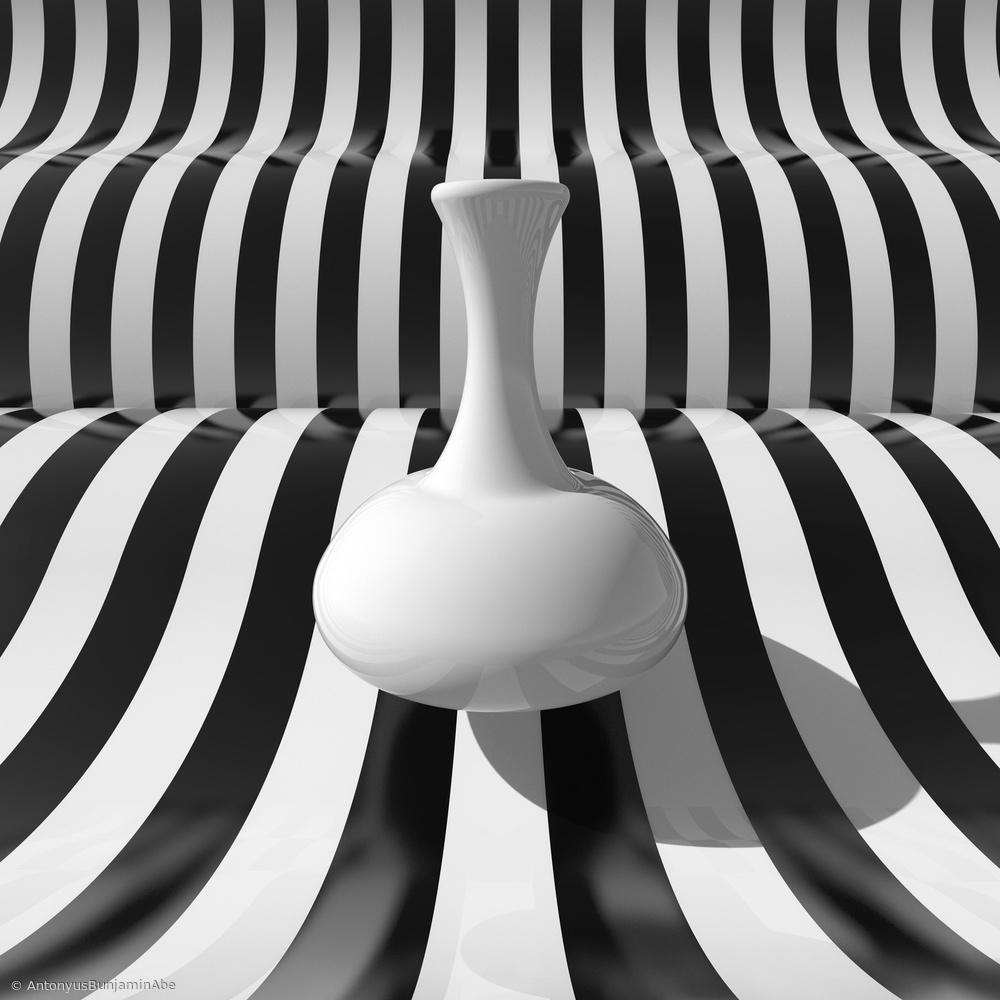 Fotokonst Bottle and Strips