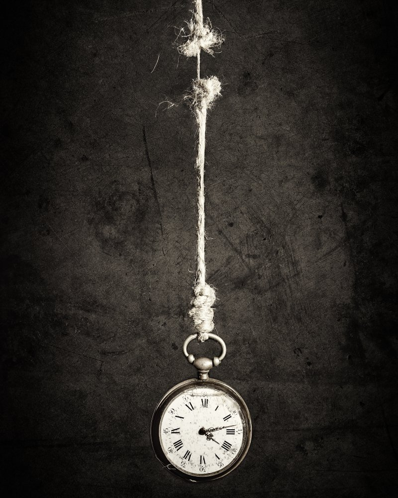 Fotokonst Time is up