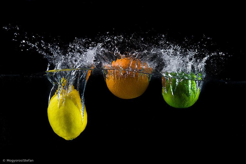 Fotokonst Triple citrus splash