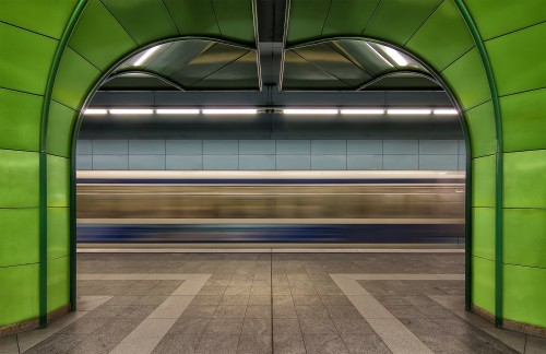 Munich Subway in Green II by dariosastre