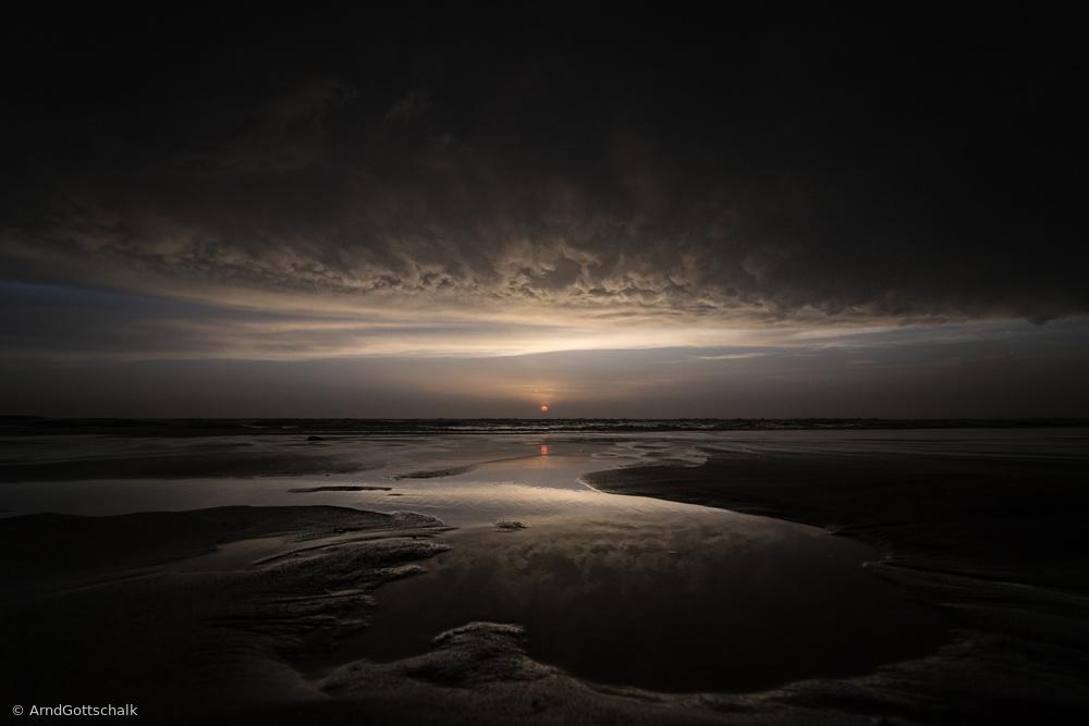 Fotokonst Biscarrosse sunset