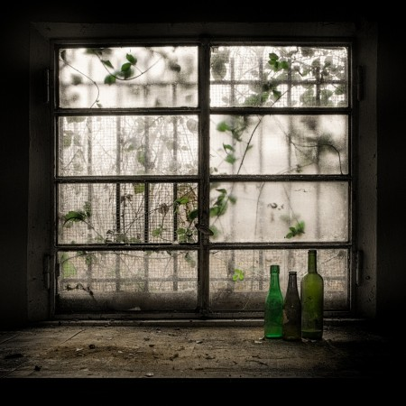 Still-Life with glass bottle by Vito Guarino